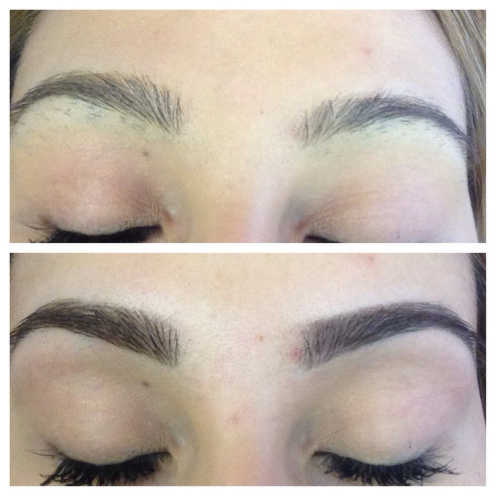 Before and after eyebrow threading. Love it - Yelp