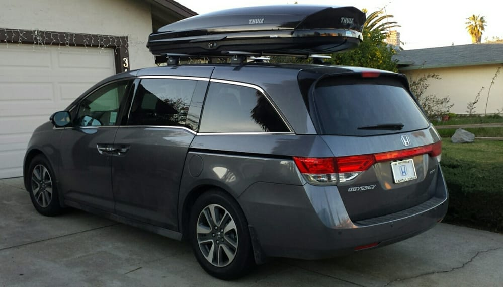 2015 honda odyssey thule aeroblade 39 s with a thule cargo box yelp. Black Bedroom Furniture Sets. Home Design Ideas