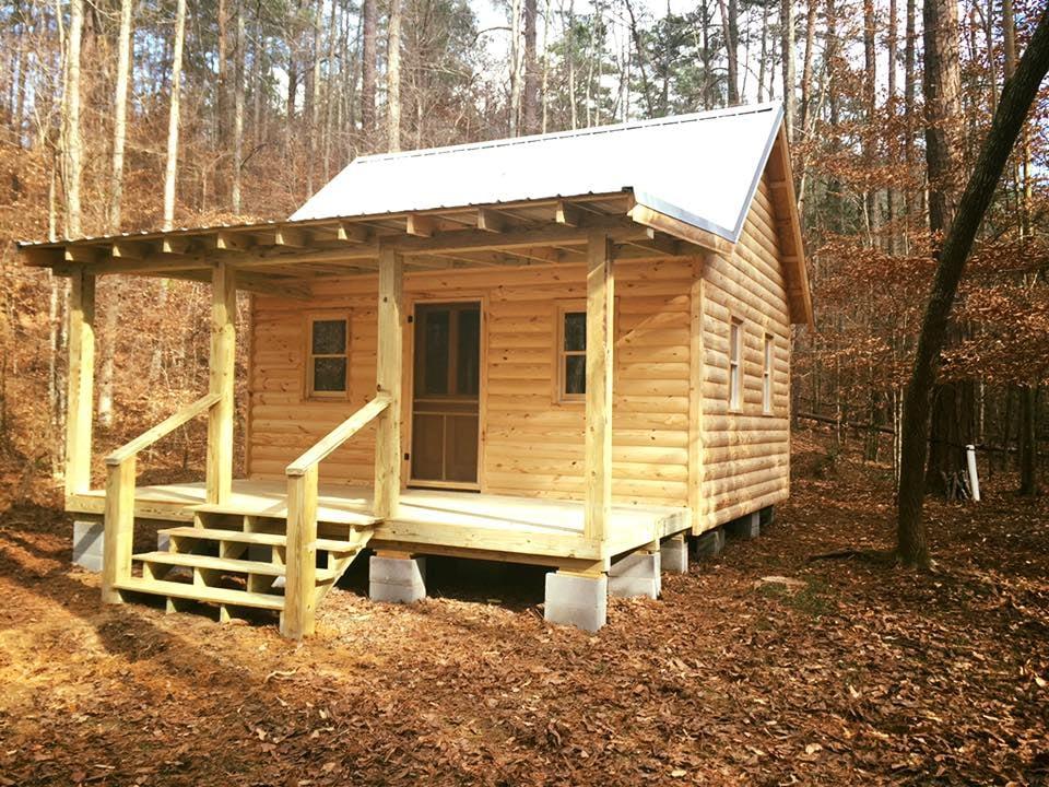 16x18 Custom Log Cabin Log Siding Metal Roof 8x18 Lean