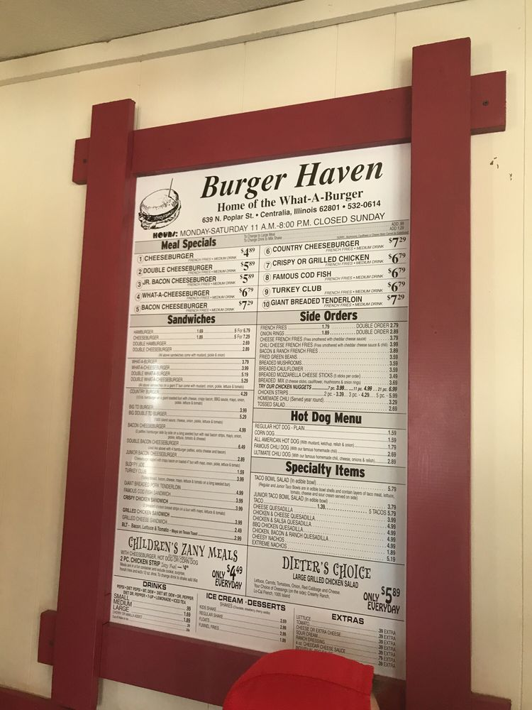 Burger-Haven: 639 N Poplar St, Centralia, IL