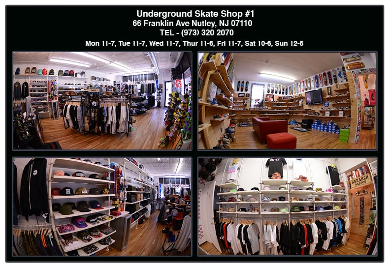 Underground Skate Shop: 66 Franklin Ave, Nutley, NJ