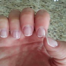 natural looking short acrylic nails just like i like it