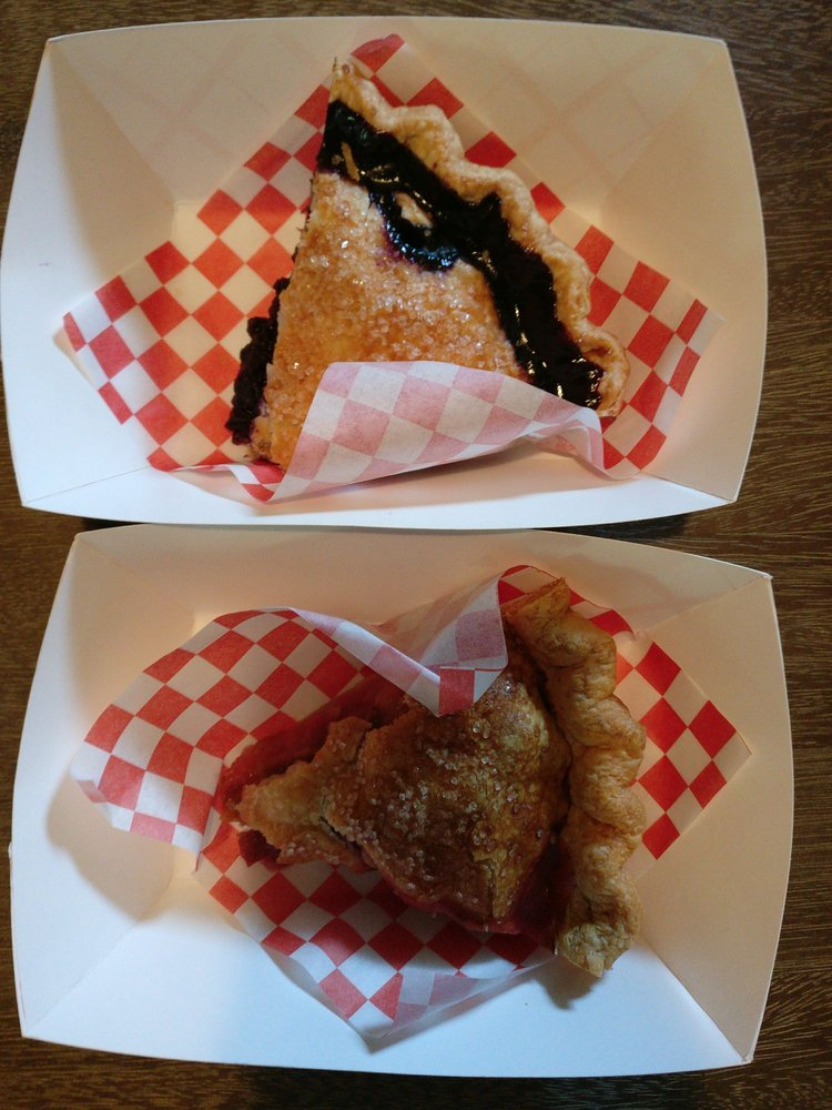 Blueberry (top) and Strawberry Rhubarb (below). - Yelp