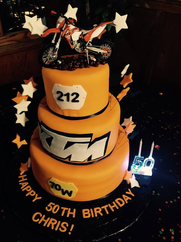 Rachel Made The Best Ktm Cake For My Husbands 50th Birthday Party