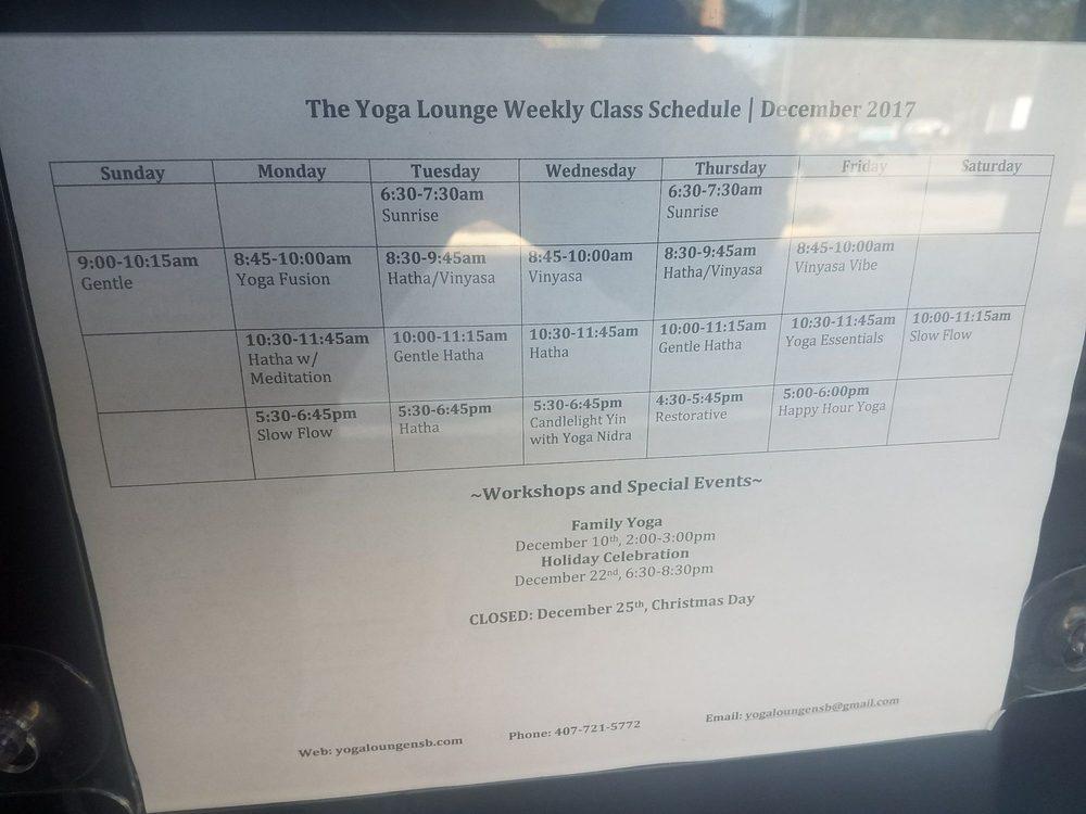 The Yoga Lounge New Smyrna Beach Fl