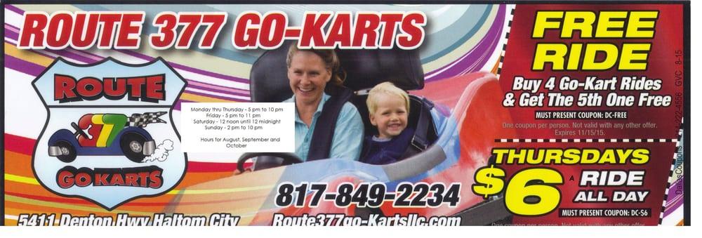 Route 377 Go-Karts: 5411 Denton Hwy, Haltom City, TX