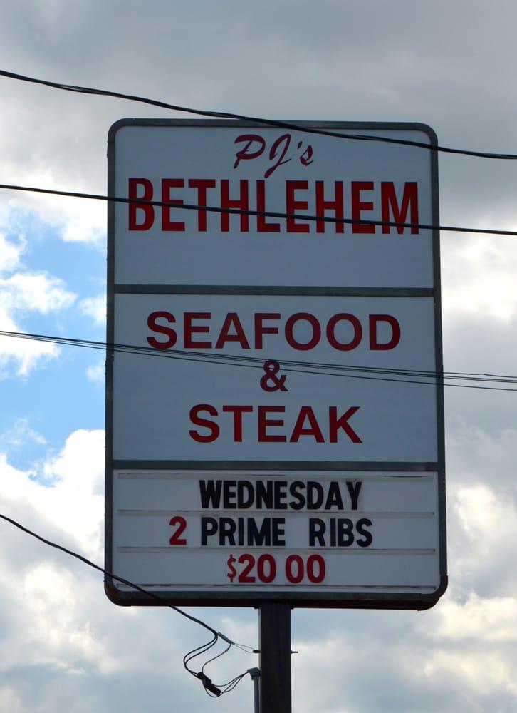 PJ's Bethlehem Seafood and Steak: 349 Rink Dam Rd, Taylorsville, NC