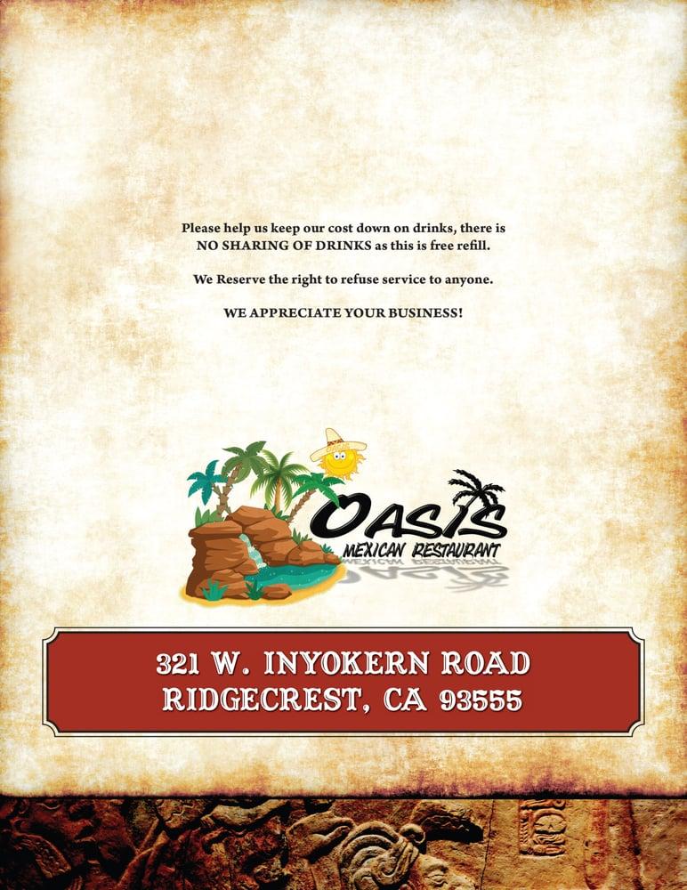 Oasis Mexican Restaurant Ridgecrest Ca