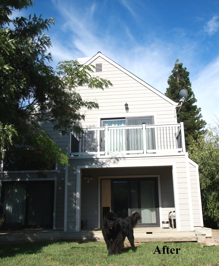 Rear View Of House With New Siding Windows And Sliding Glass