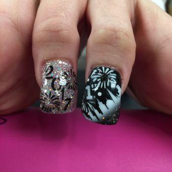 Nail art 454 photos 245 reviews nail salons 420 blossom photo of nail art san jose ca united states black n silver prinsesfo Images