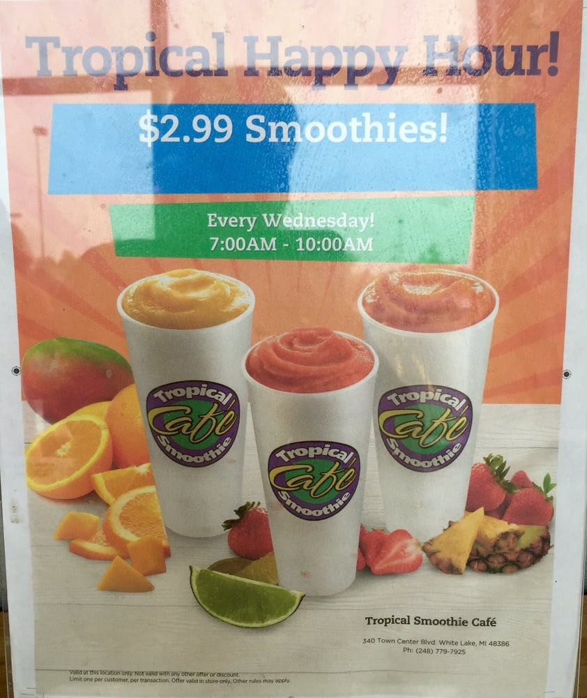 Tropical Smoothie Cafe's menu boasts bold, flavorful smoothies with a healthy appeal, all made-to-order from the freshest ingredients. We find that superior, simple /5(91).