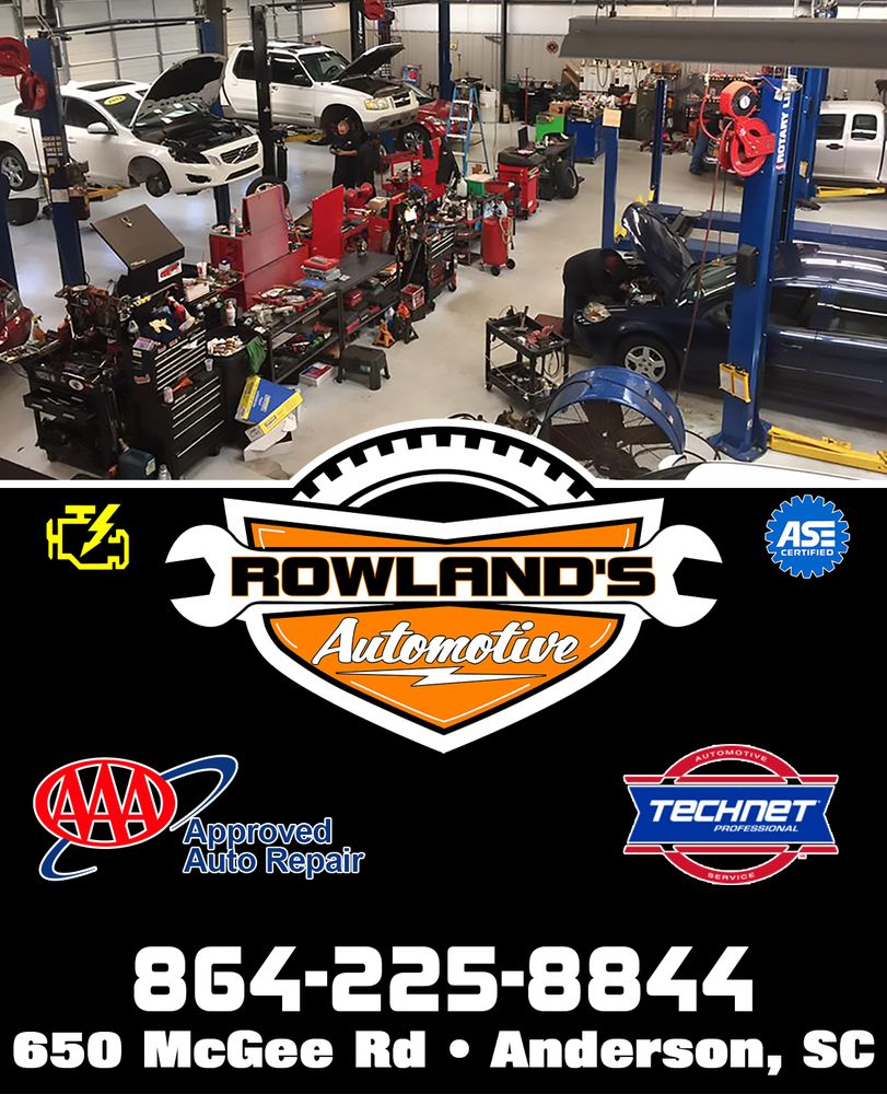 Rowland's Automotive Specialist: 650 Mcgee Rd, Anderson, SC