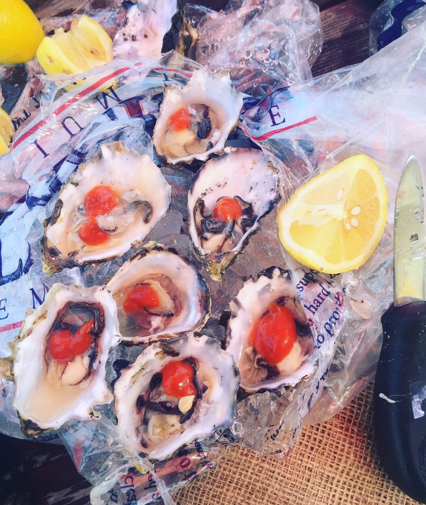Shucked them myself yelp for Giovanni s fish market
