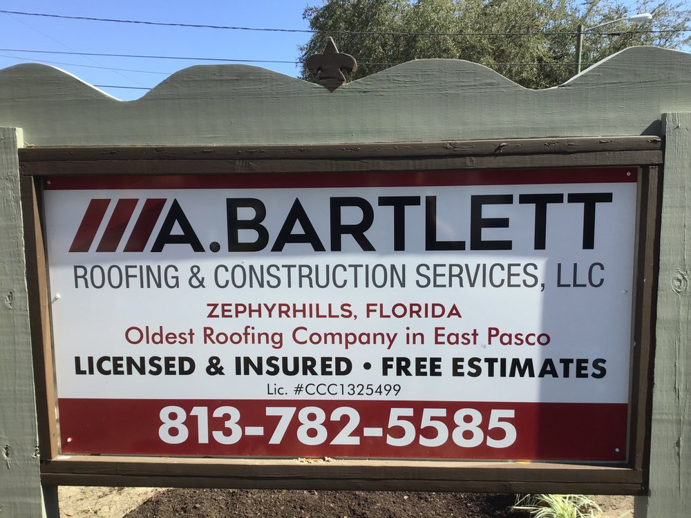 A Bartlett Roofing & Construction Services: 38408 3rd Ave, Zephyrhills, ...