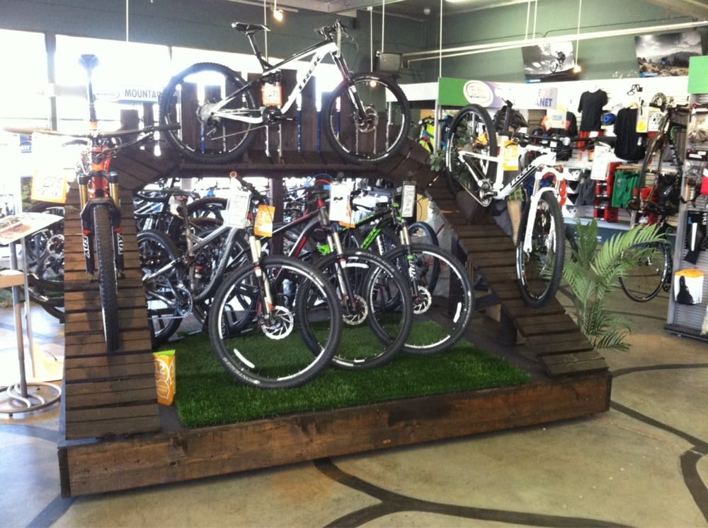 cool new mountain bike display yelp. Black Bedroom Furniture Sets. Home Design Ideas