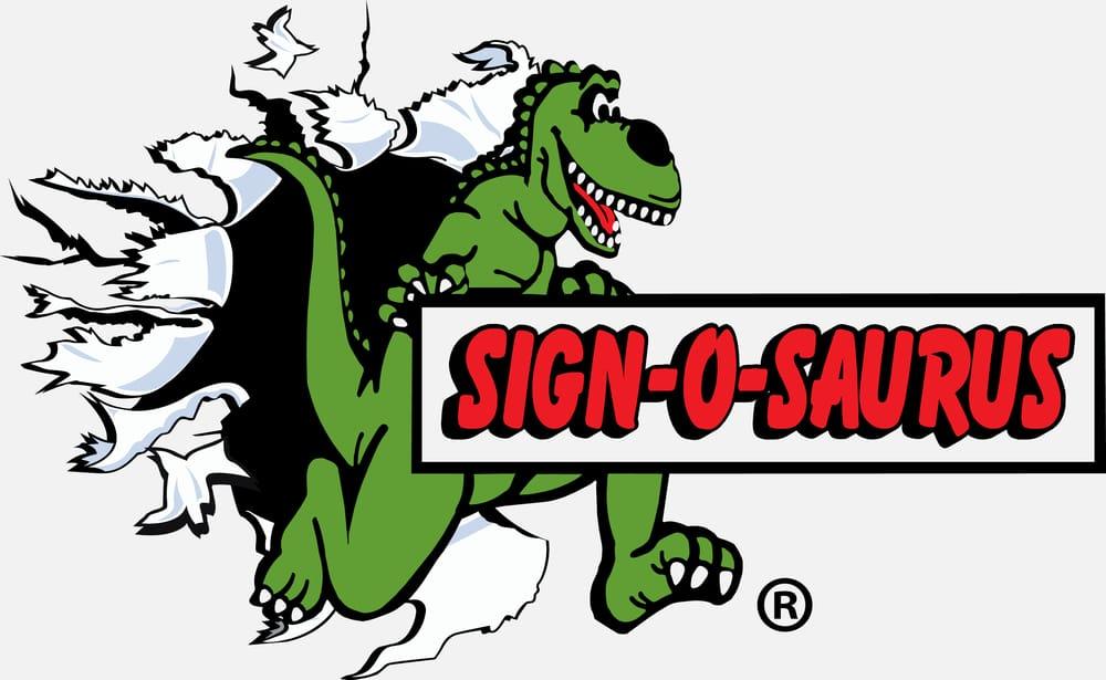 Sign-O-Saurus