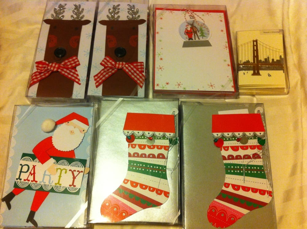 Got these Christmas invitation cards for sale:) - Yelp