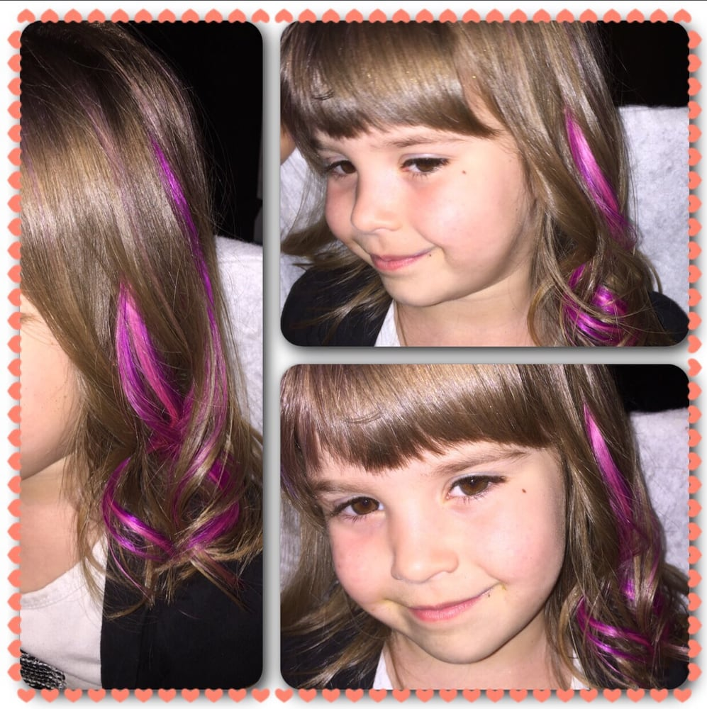 Hotheads hair extensions on kids adds a lil pop of color fun photo of east coast flair hair studio dover de united states hotheads pmusecretfo Images