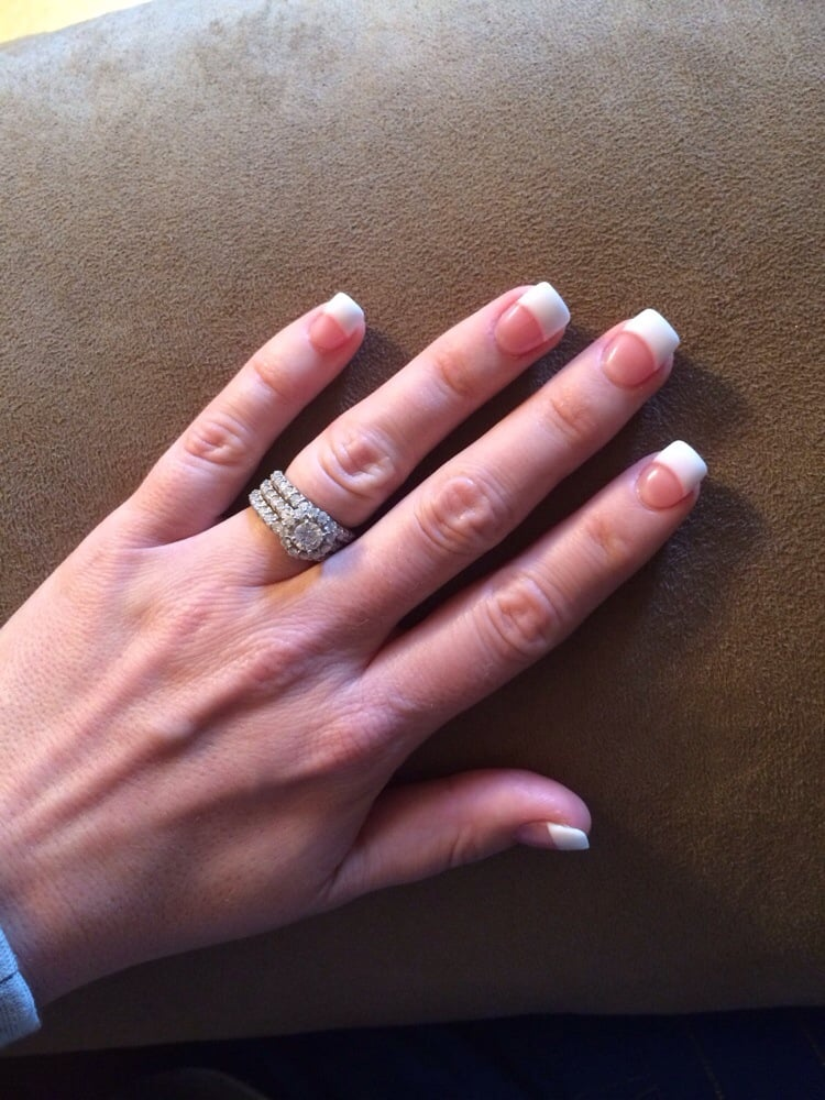 Full Set Pink And White With Gel Finish Yelp