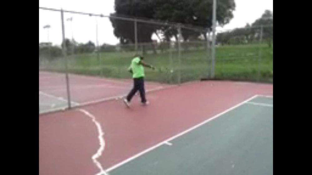 Photo of Tennis Lessons By Mcclain - San Francisco, CA, United States. Yes on the ball , back straight perfect balance