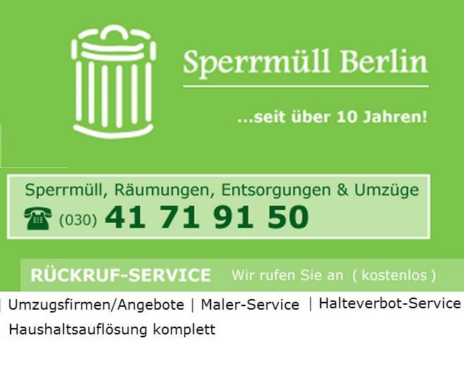 express sperrm ll berlin rimozione rifiuti e robivecchi. Black Bedroom Furniture Sets. Home Design Ideas