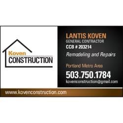 Koven construction closed contractors hillsboro or phone photo of koven construction hillsboro or united states colourmoves