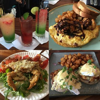... . Soft shell crab salad, fried oyster omelette and the crab benedict