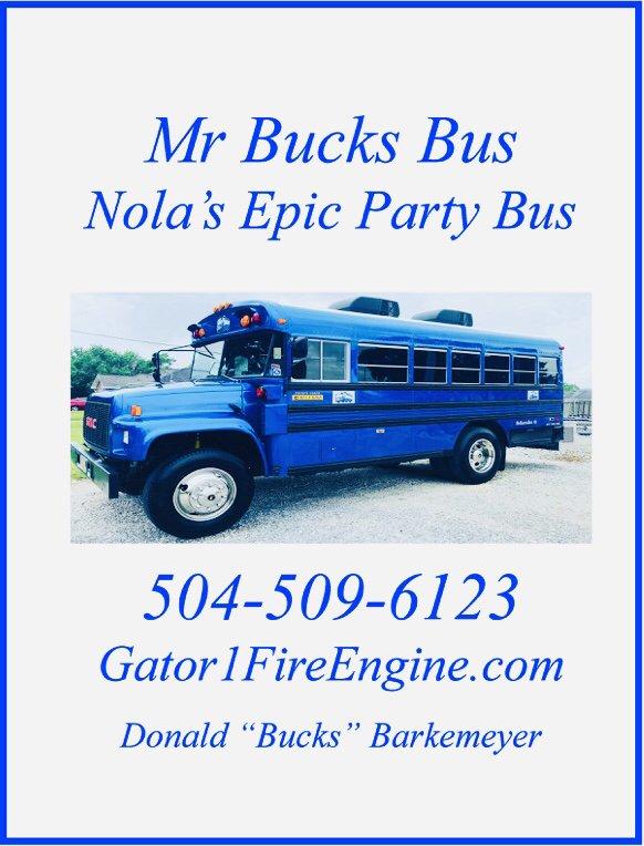 Gator 1 Party Fire Engine/Mr Bucks Bus