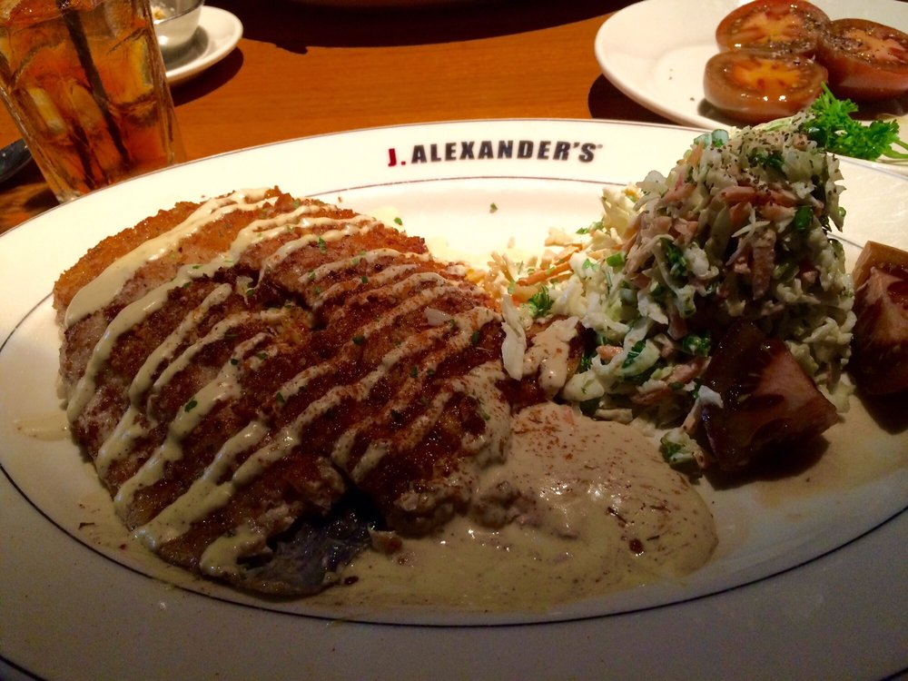 Pecan crusted trout and cole slaw yelp for Alexander s greek cuisine