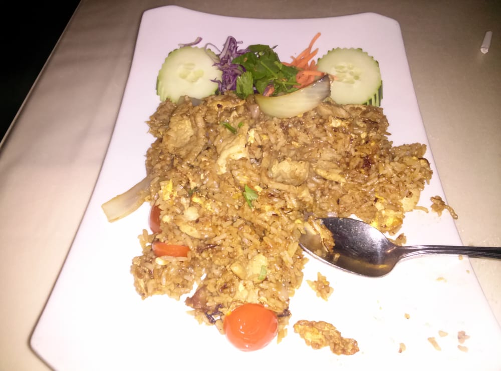 Tried a new dish tonight bangkok fried rice good choice for Amarin thai cuisine menu