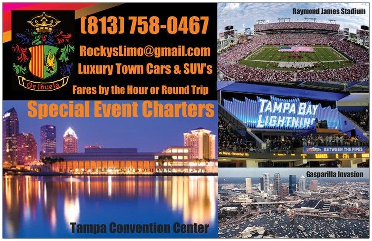 Rocky's Airport Limo & Luxury Car Services: 5433 Sweetwater Ter Cir, Tampa, FL