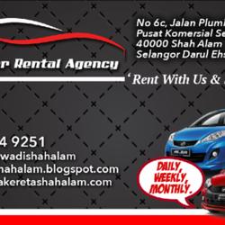 Se Car Agency >> Sf Car Rental Agency Kereta Sewa Shah Alam Car Rental