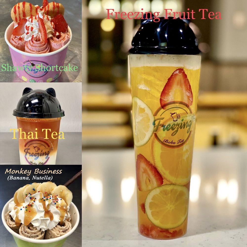 Freezing Thai Rolled Ice Cream • Boba Tea • Poke: 1918 S 67th St, Omaha, NE