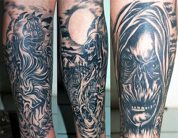 Tatouage Tete De Mort Beret Vert Skull Yelp