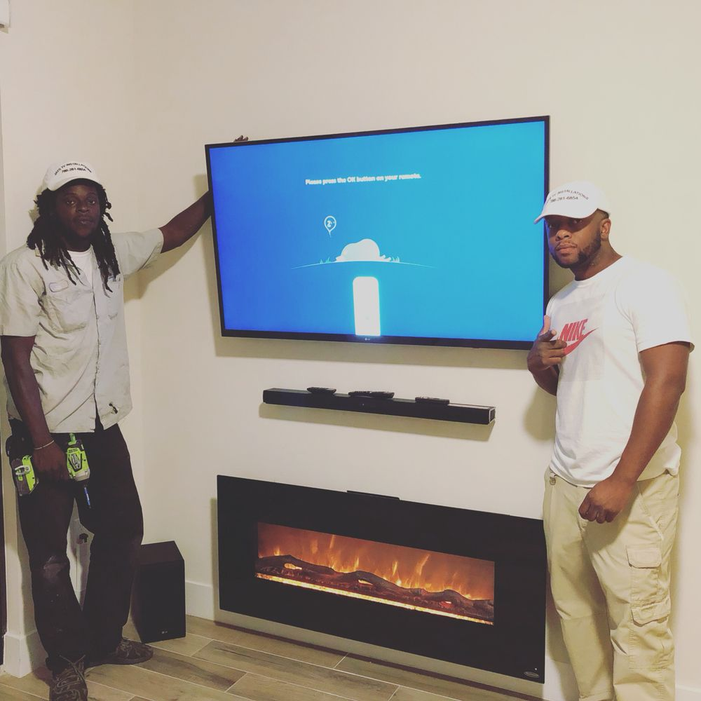 Tv install / sound bar / fire place no wires no problem! - Yelp