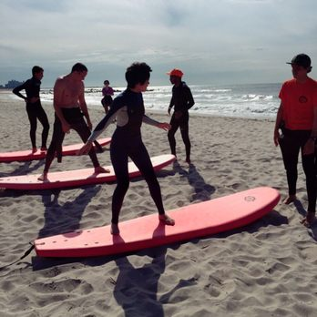 Photo Of Sierra Surf School Boardwalk Ny United States Group Lesson