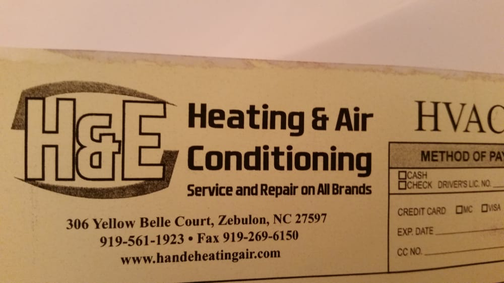H and E Heating and Air: 44 Cedar Way Dr, Franklinton, NC