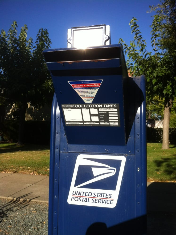 USPS Blue Mail Box - Post Offices - 688 S L St, Livermore