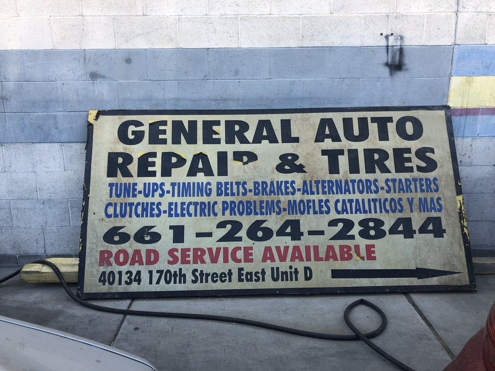 General Auto Repair & Tires: 40134 170th St E, Lake Los Angeles, CA