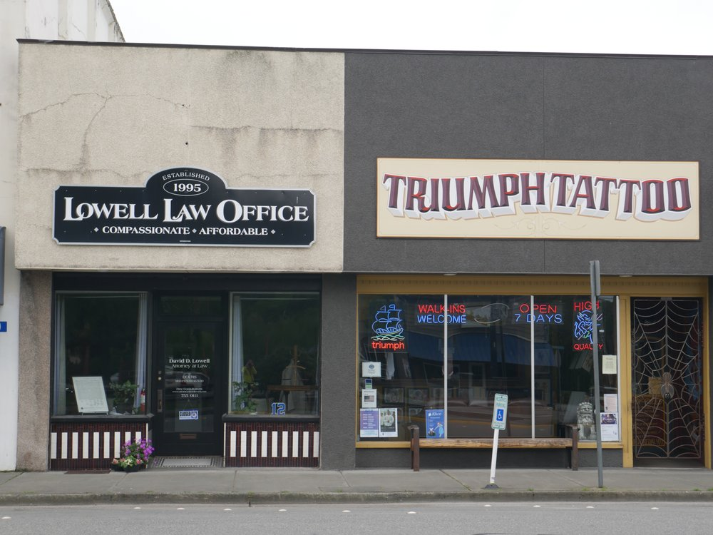 Triumph Tattoo: 604 E Fairhaven Ave, Burlington, WA
