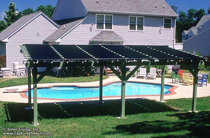 Pergola Solar Pool Heating System Free Heat For A Warmer