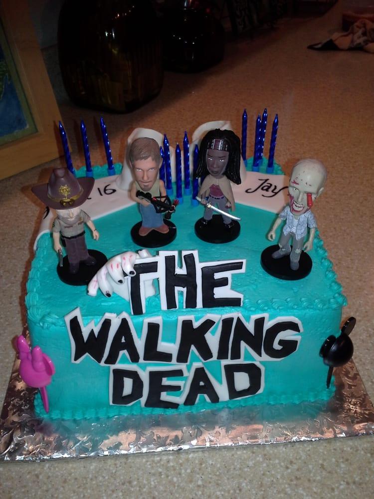 Jayklynns Sweet 16 Cake Walking Dead Disneyland Tiffany Theme