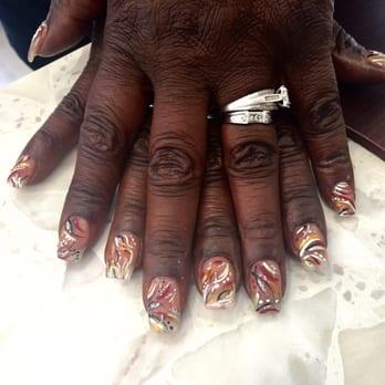 Photo Of Nails Art Canton Mi United States Full Set Acrylics With
