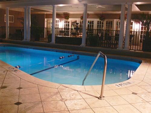 King Charles Inn Hotel Pool At Night Yelp