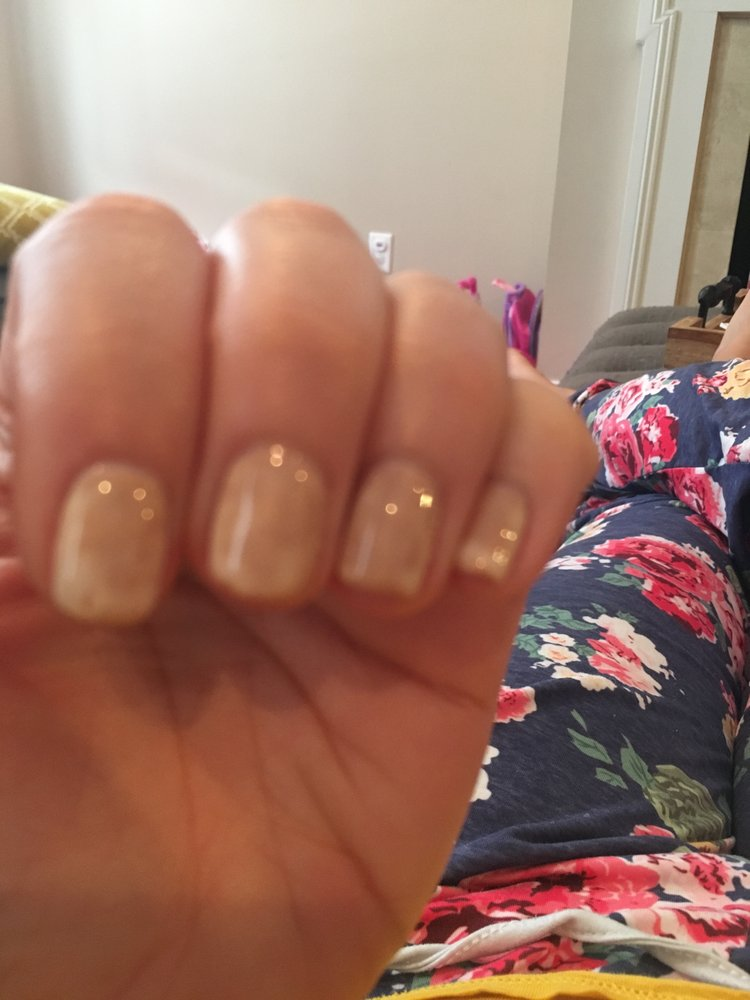 My nails were painted white they changed to brown in less than 24 ...