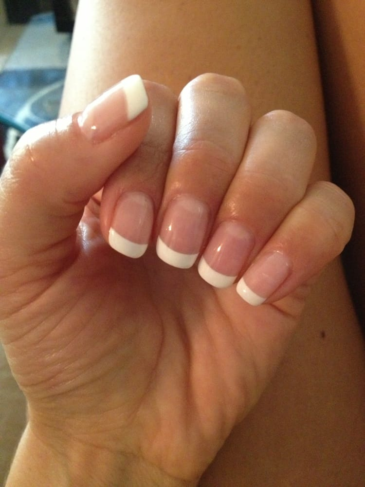 French Pink And White Gel Manicure 35 Yelp