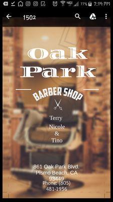 Oak Park Barber Shop 861 Oak Park Blvd Pismo Beach Ca Barbers