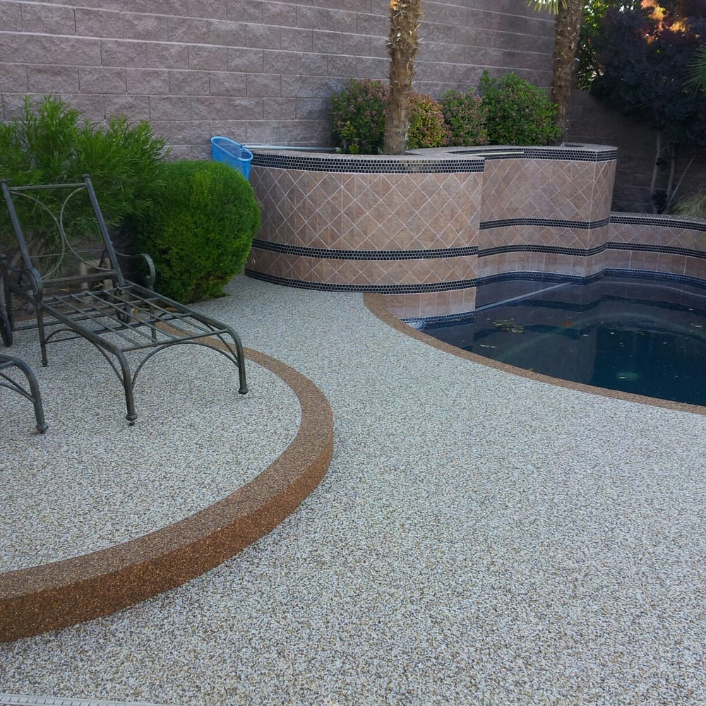 Kool Deck: We Just Finished A New Pool Deck Installation Of Pebble