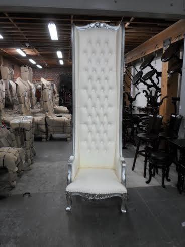King And Queen Chair Rental Throne Chair White 8 Feet