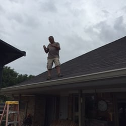 Photo Of Sheridan Roofing   Allen, TX, United States. Checking For Hail  Damage